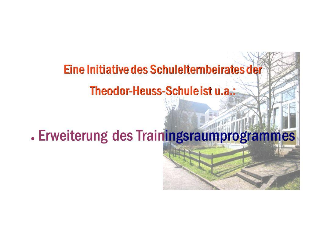 Erweiterung des Trainingsraumprogrammes