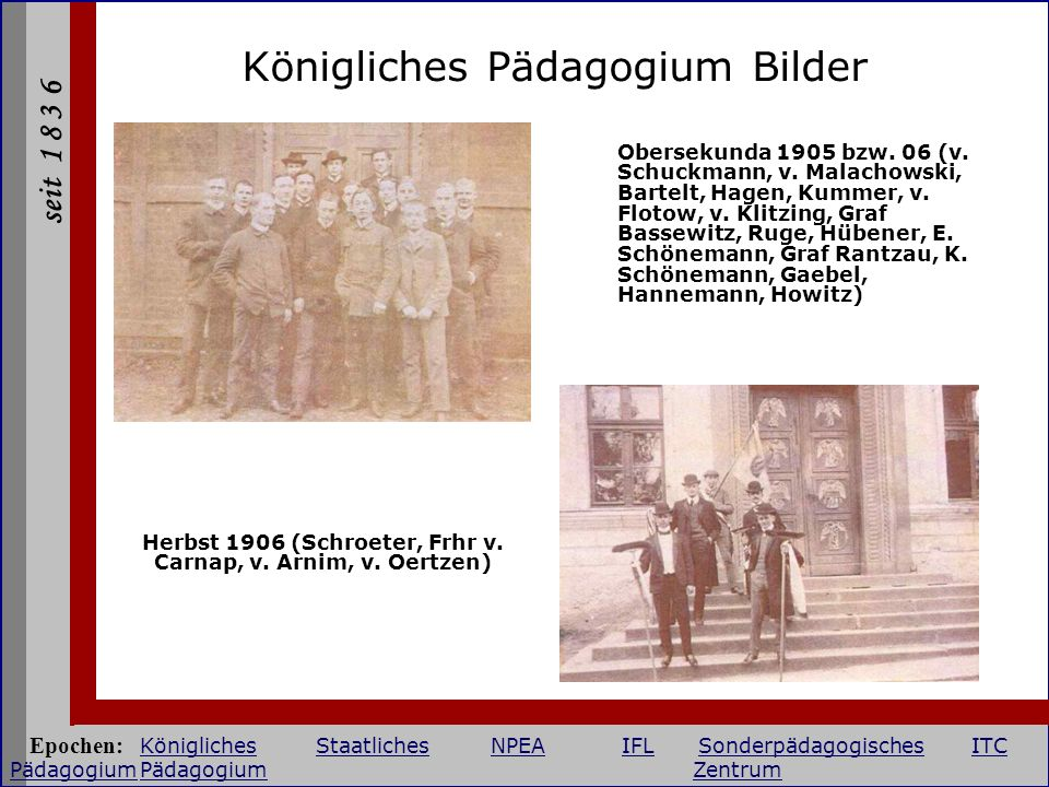 Herbst 1906 (Schroeter, Frhr v. Carnap, v. Arnim, v. Oertzen)