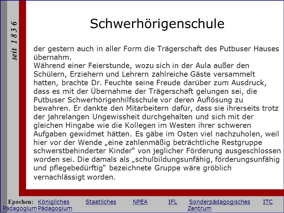 Schwerhörigenschule der gestern auch in aller Form die Trägerschaft des Putbuser Hauses übernahm.