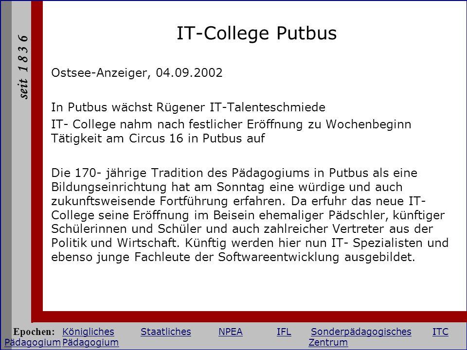 IT-College Putbus Ostsee-Anzeiger, 04.09.2002