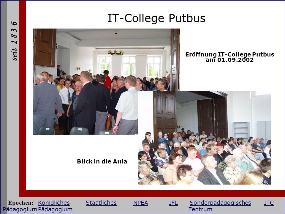 Eröffnung IT-College Putbus am 01.09.2002