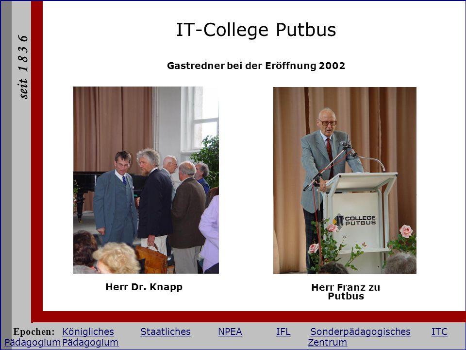 Gastredner bei der Eröffnung 2002