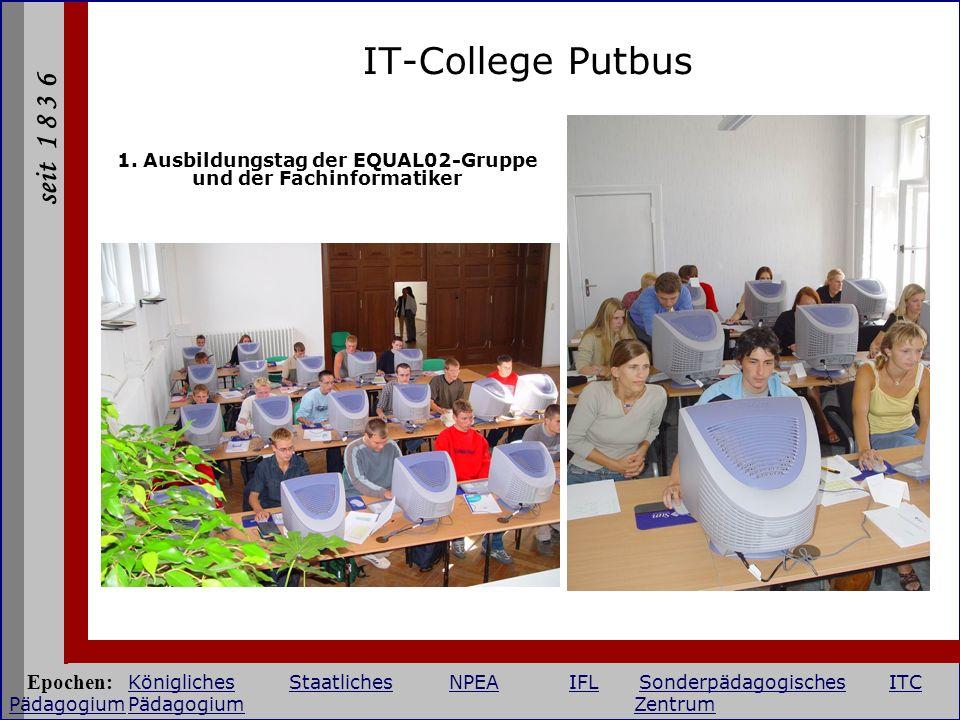 1. Ausbildungstag der EQUAL02-Gruppe und der Fachinformatiker