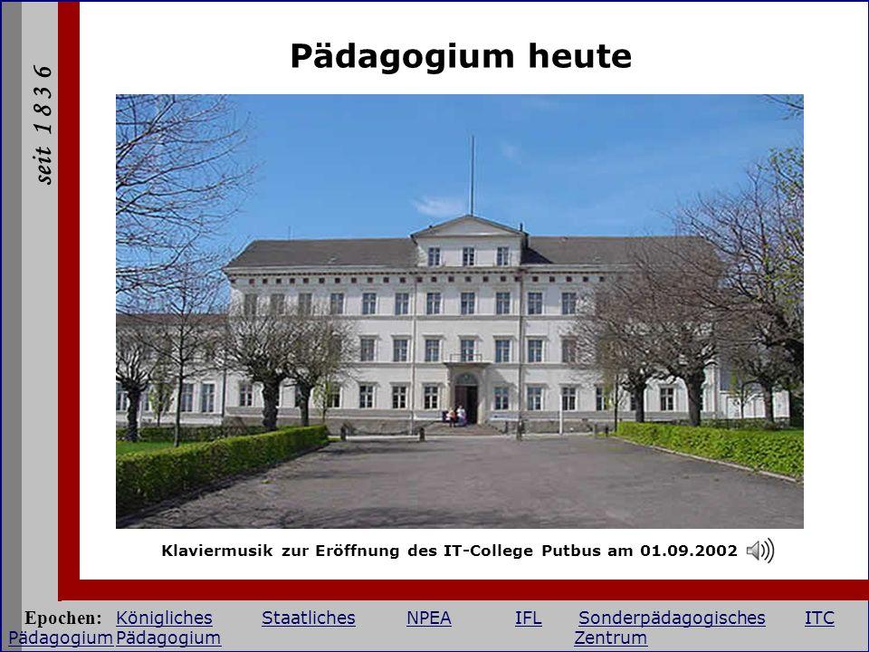 Klaviermusik zur Eröffnung des IT-College Putbus am 01.09.2002
