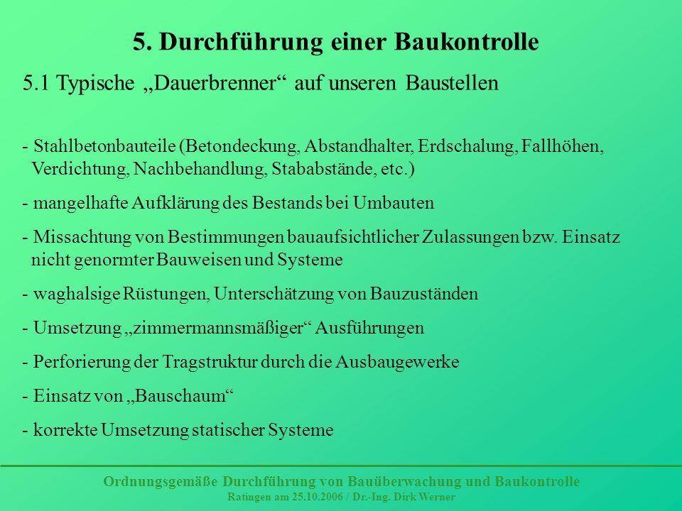 5. Durchführung einer Baukontrolle