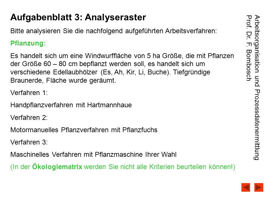 Aufgabenblatt 3: Analyseraster