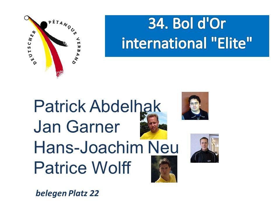 Patrick Abdelhak Jan Garner Hans-Joachim Neu Patrice Wolff