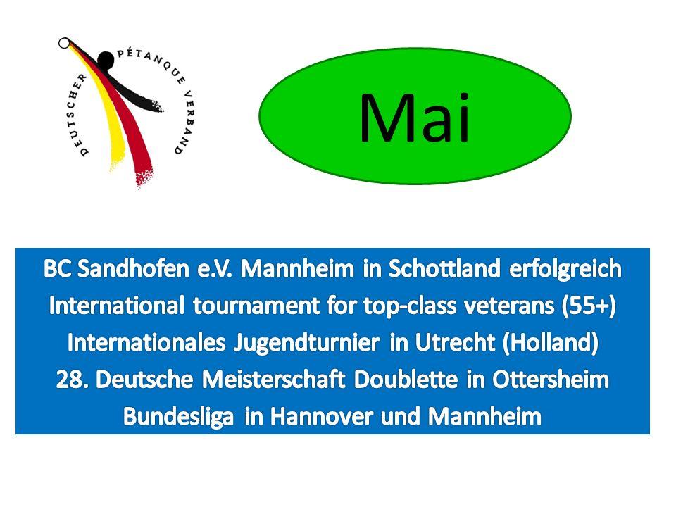 Mai BC Sandhofen e.V. Mannheim in Schottland erfolgreich