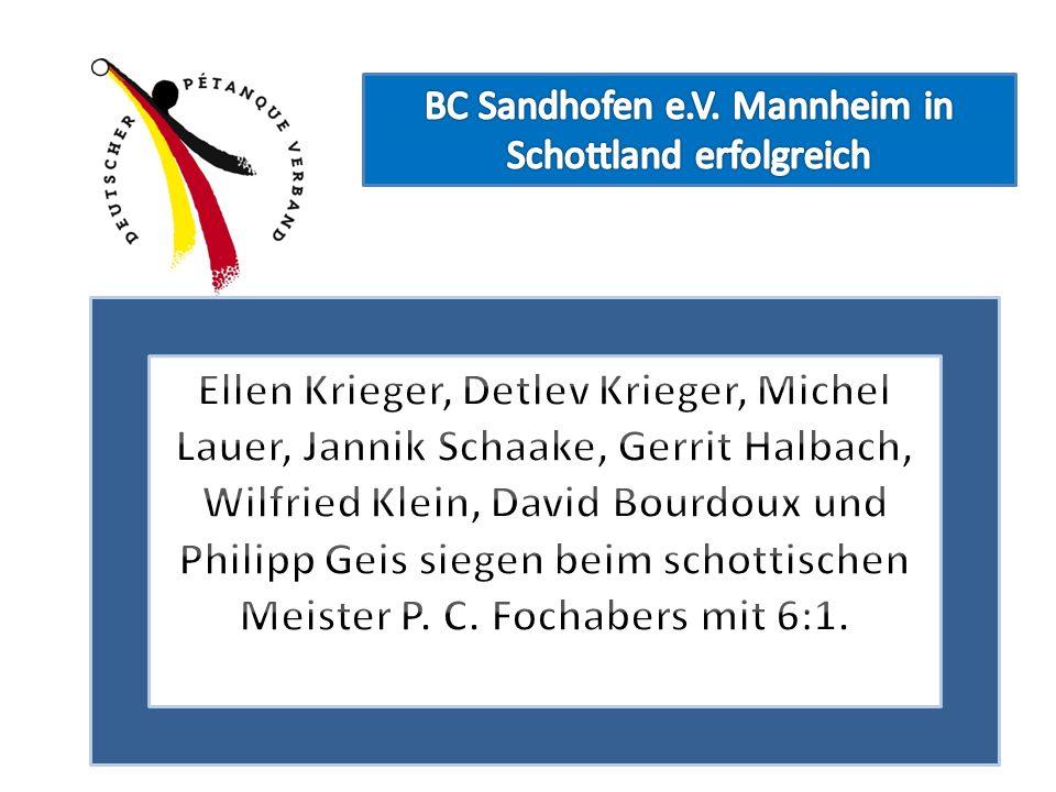 BC Sandhofen e.V. Mannheim in Schottland erfolgreich
