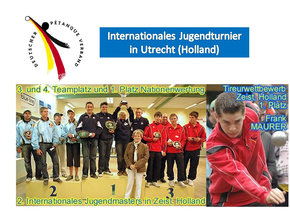 Internationales Jugendturnier in Utrecht (Holland)