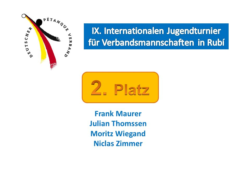 IX. Internationalen Jugendturnier für Verbandsmannschaften in Rubí