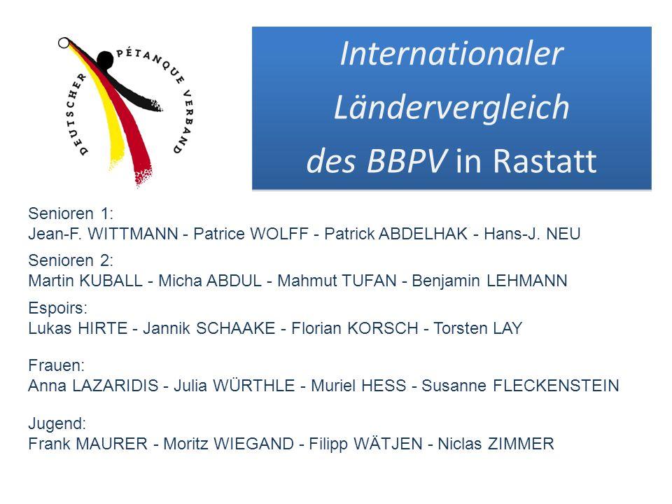 Internationaler Ländervergleich des BBPV in Rastatt