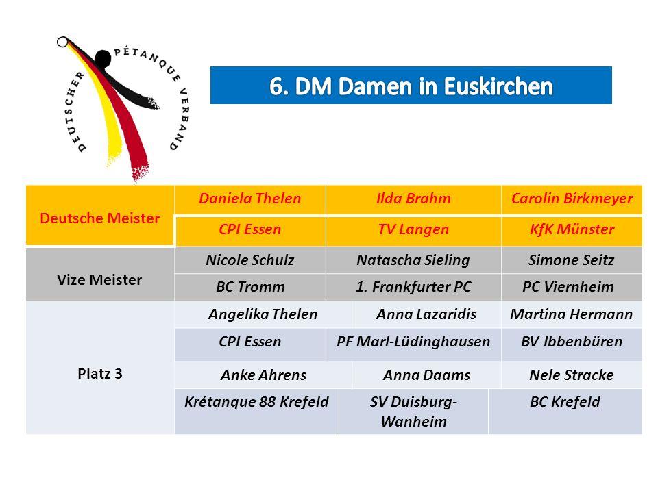 6. DM Damen in Euskirchen Deutsche Meister Daniela Thelen Ilda Brahm