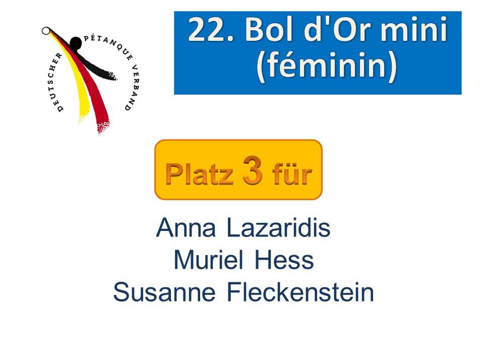22. Bol d Or mini (féminin) Platz 3 für Anna Lazaridis Muriel Hess