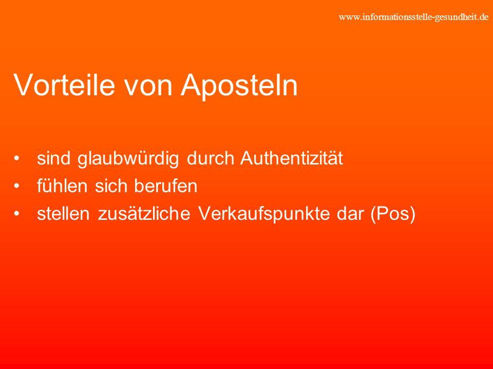Vorteile von Aposteln sind glaubwürdig durch Authentizität
