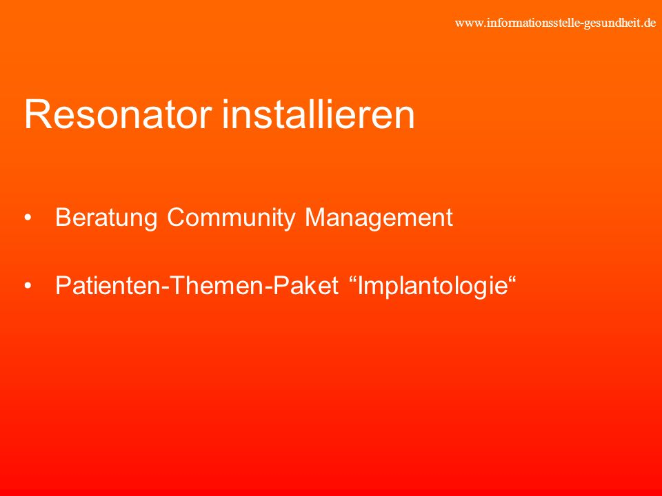 Resonator installieren