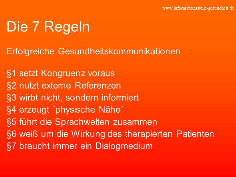 Die 7 Regeln Erfolgreiche Gesundheitskommunikationen