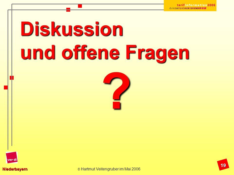 Diskussion und offene Fragen