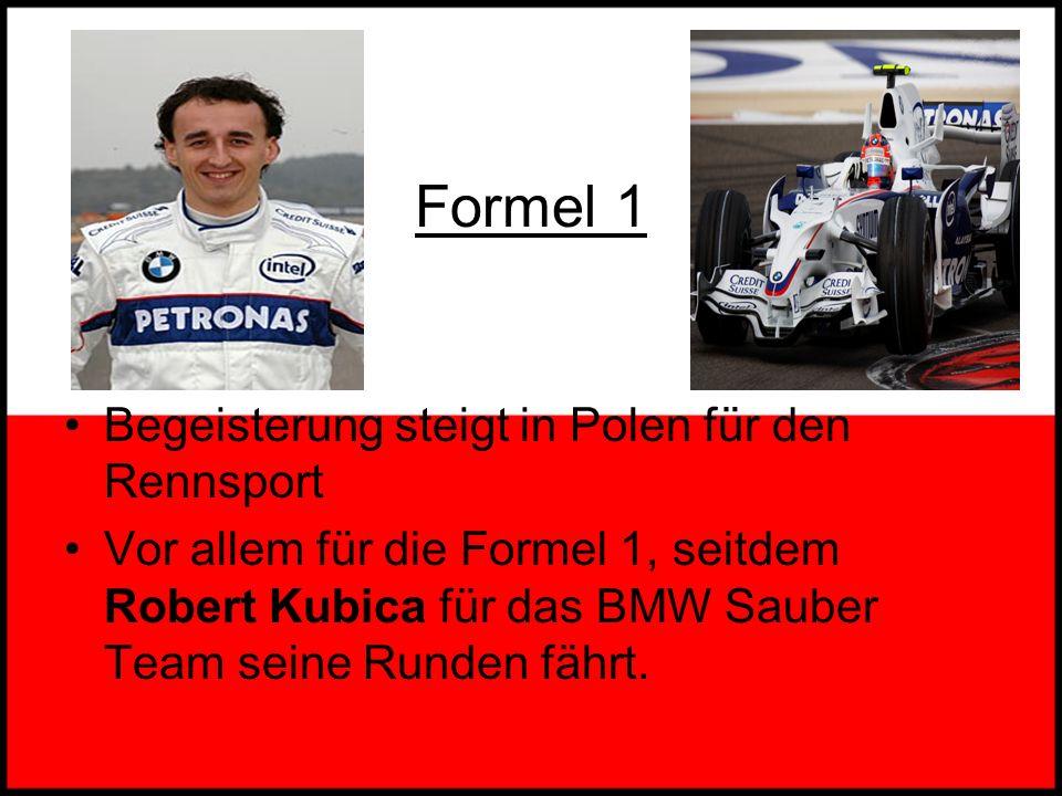 Formel 1 Begeisterung steigt in Polen für den Rennsport