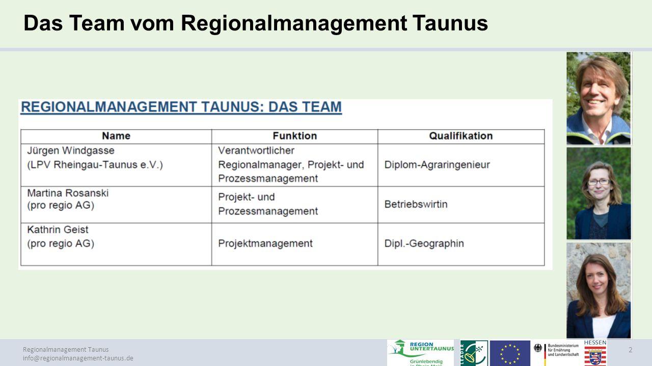 Das Team vom Regionalmanagement Taunus