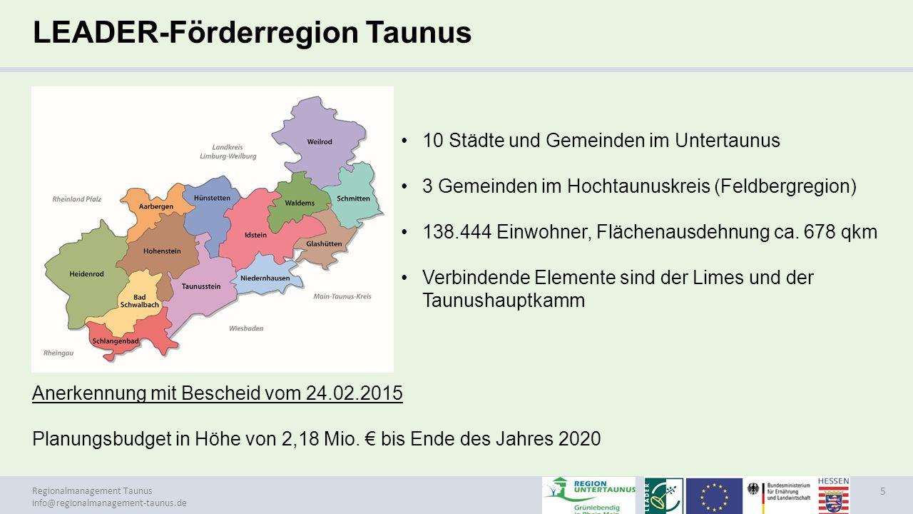 LEADER-Förderregion Taunus