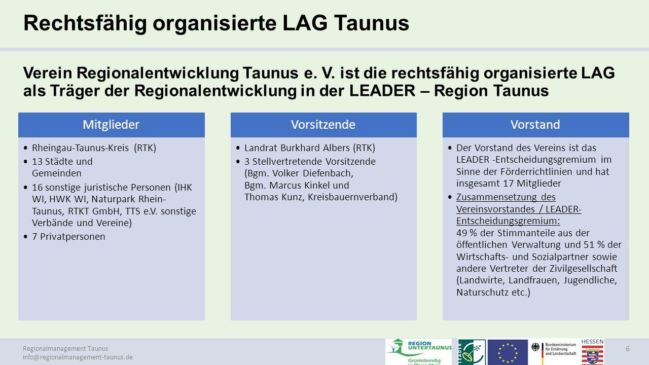 Rechtsfähig organisierte LAG Taunus
