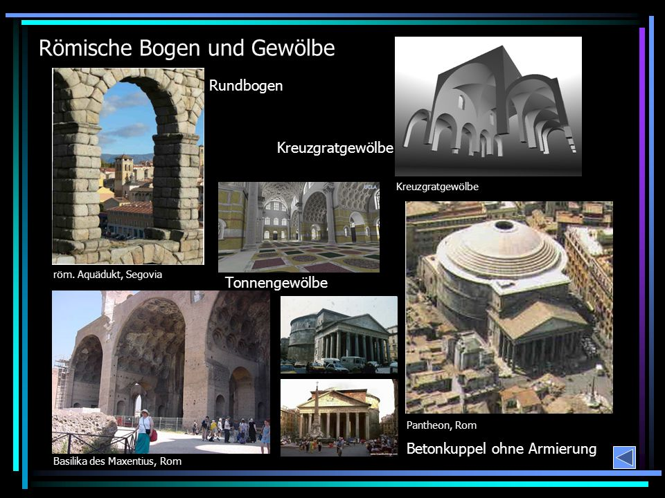 Römische Bogen und Gewölbe