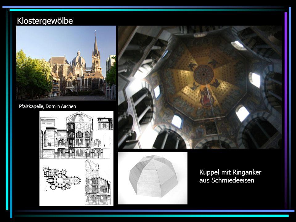 Klostergewölbe Kuppel mit Ringanker aus Schmiedeeisen