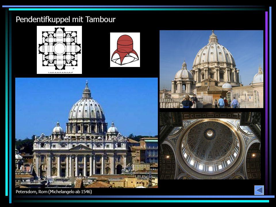 Pendentifkuppel mit Tambour