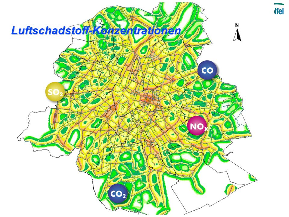 Luftschadstoff-Konzentrationen