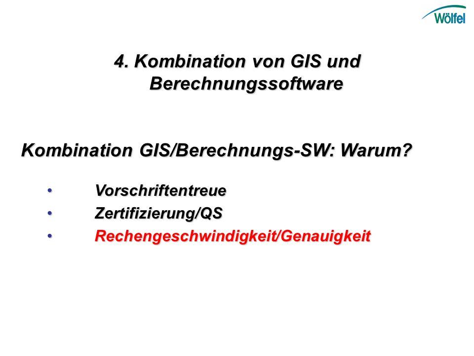 4. Kombination von GIS und Berechnungssoftware