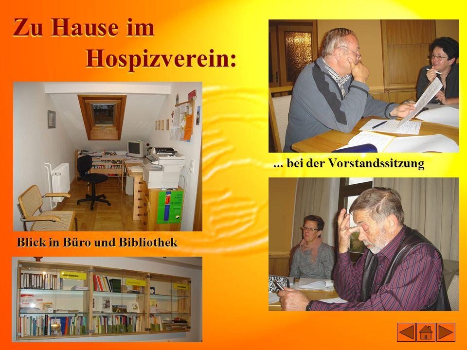 Zu Hause im Hospizverein: ... bei der Vorstandssitzung