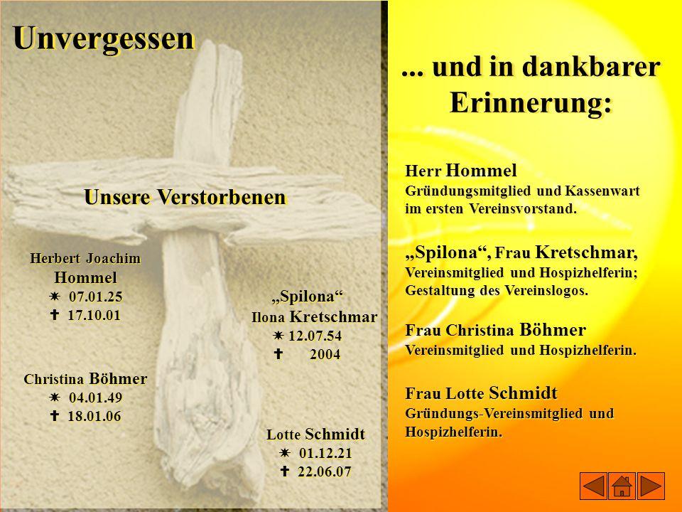 Herbert Joachim Hommel ... und in dankbarer Erinnerung: