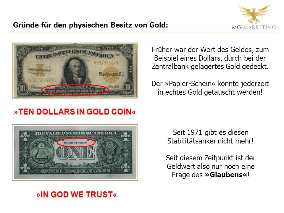 »TEN DOLLARS IN GOLD COIN«