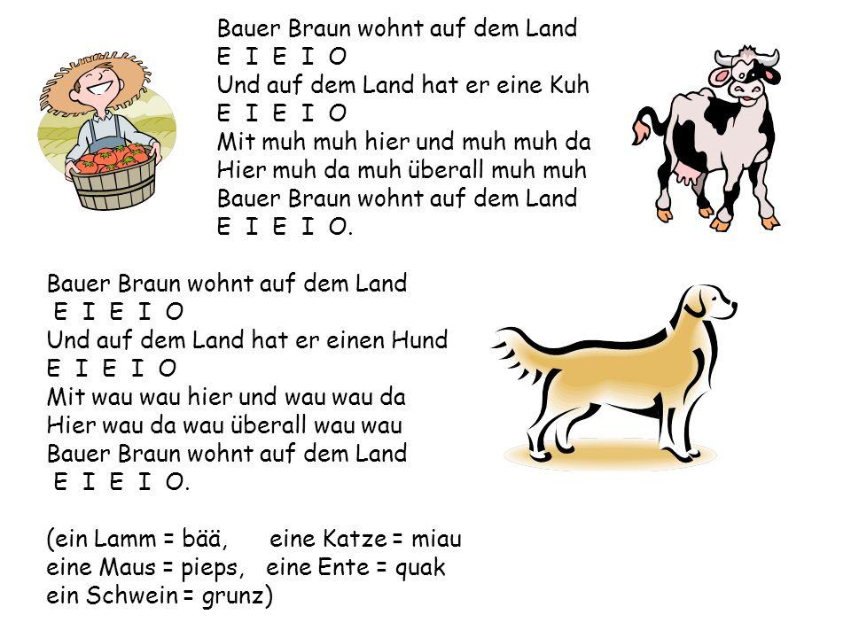 Bauer Braun wohnt auf dem Land