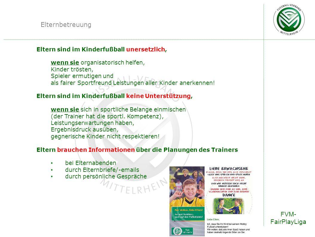 Elternbetreuung FVM-FairPlayLiga