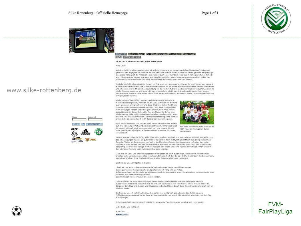 www.silke-rottenberg.de FVM-FairPlayLiga 25
