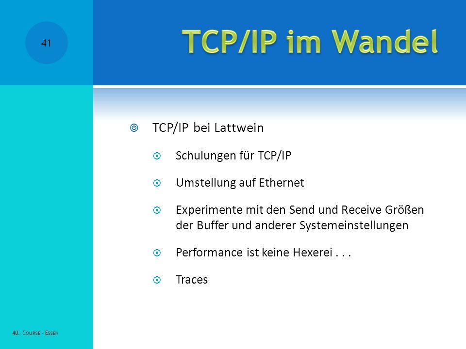 TCP/IP im Wandel TCP/IP bei Lattwein Schulungen für TCP/IP