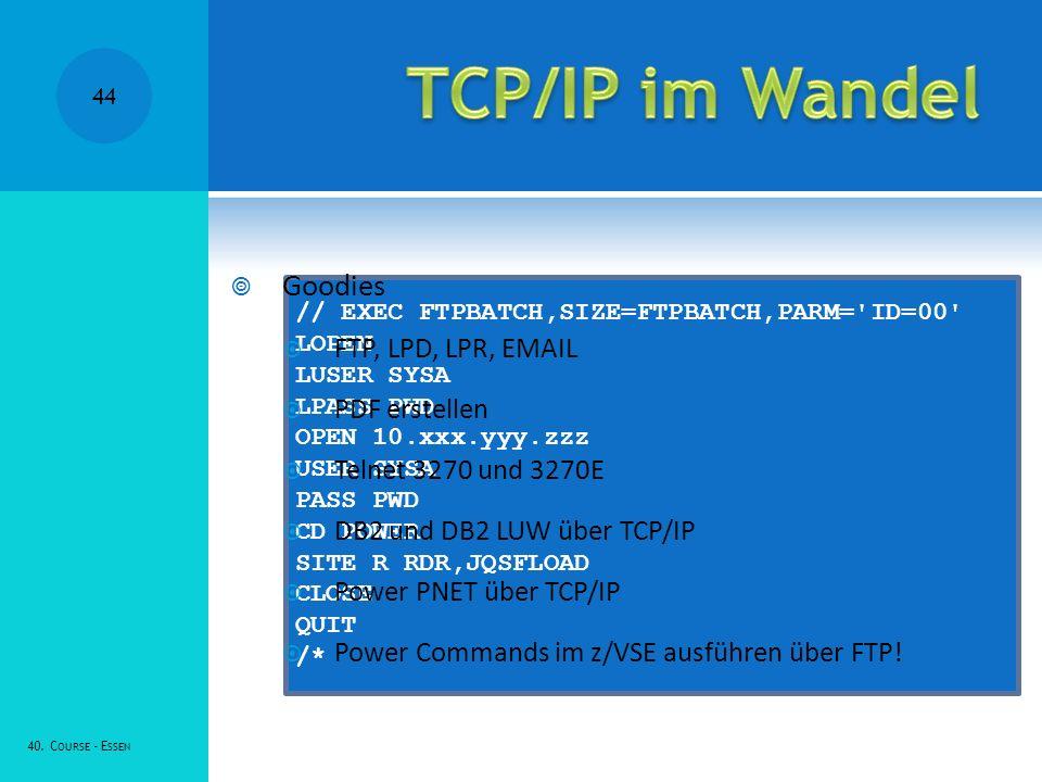 TCP/IP im Wandel Goodies FTP, LPD, LPR, EMAIL PDF erstellen