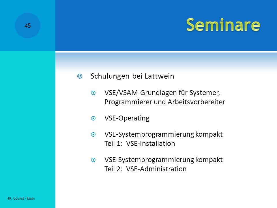 Seminare Schulungen bei Lattwein