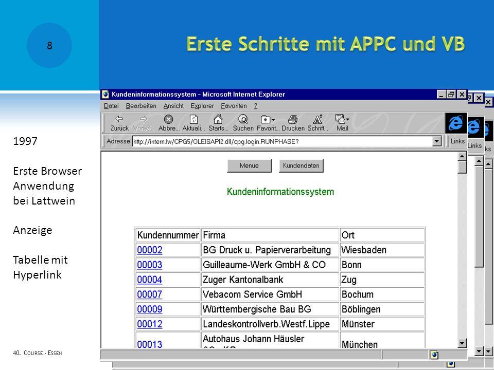 Erste Schritte mit APPC und VB