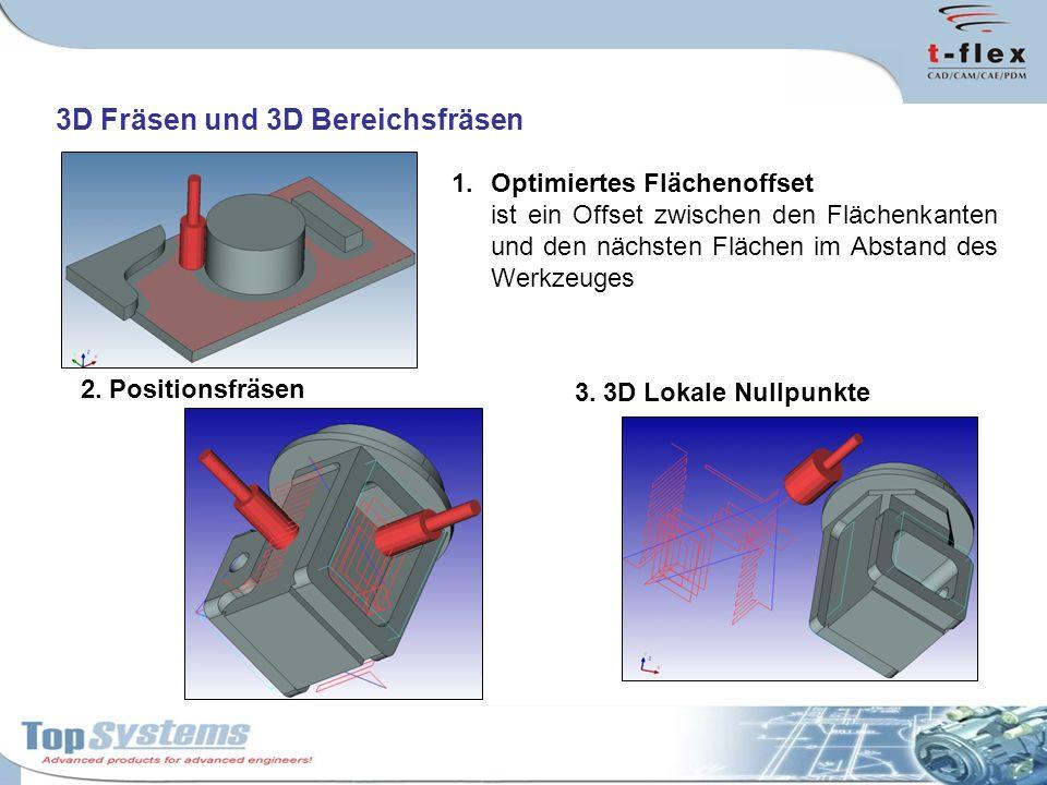 3D Fräsen und 3D Bereichsfräsen