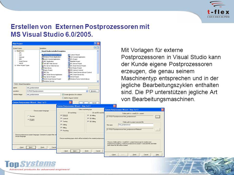 Erstellen von Externen Postprozessoren mit MS Visual Studio 6.0/2005.