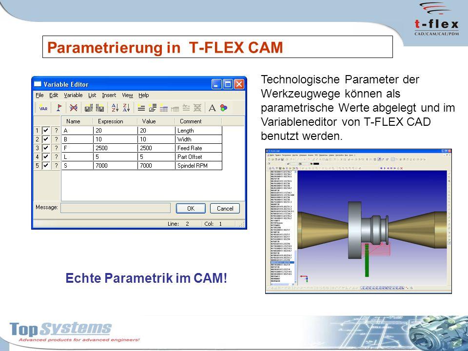 Parametrierung in T-FLEX CAM
