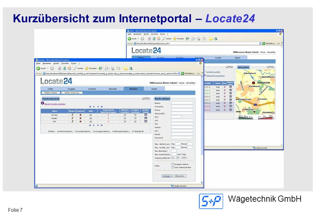 Kurzübersicht zum Internetportal – Locate24