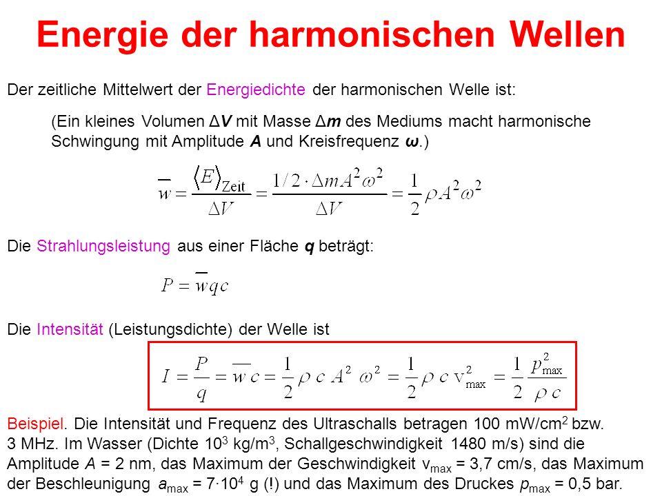 Energie der harmonischen Wellen
