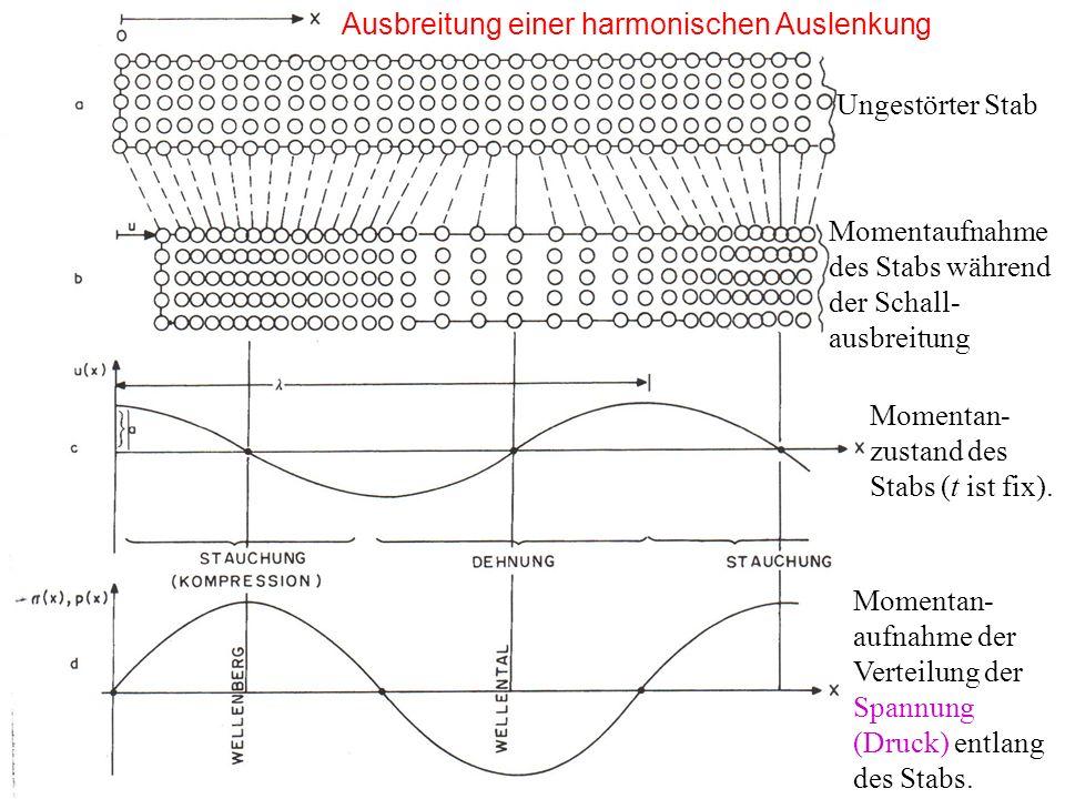 Ausbreitung einer harmonischen Auslenkung