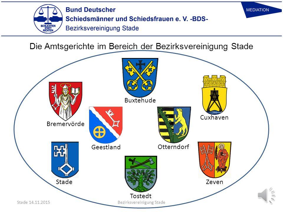 Die Amtsgerichte im Bereich der Bezirksvereinigung Stade