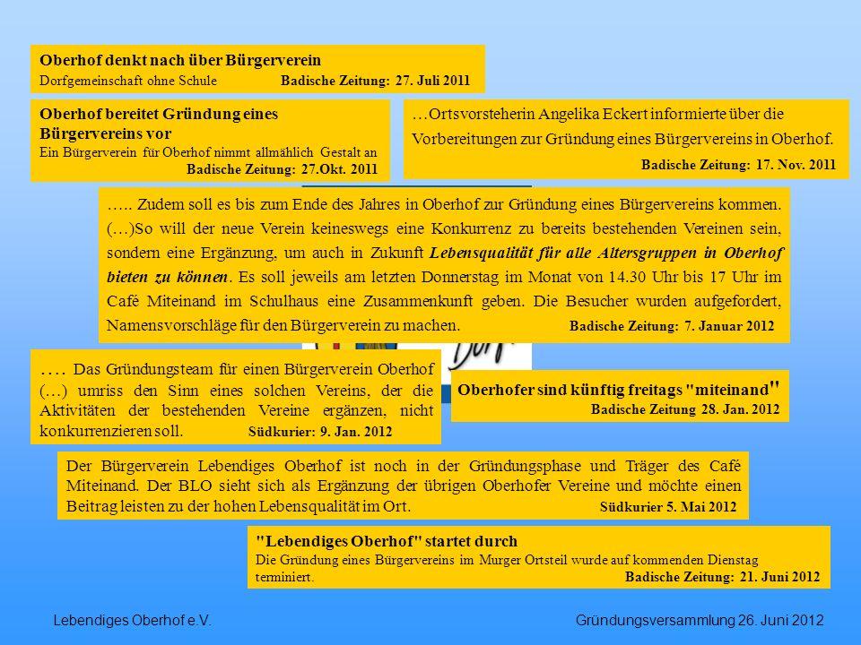 Oberhof denkt nach über Bürgerverein
