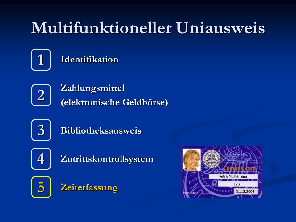 Multifunktioneller Uniausweis